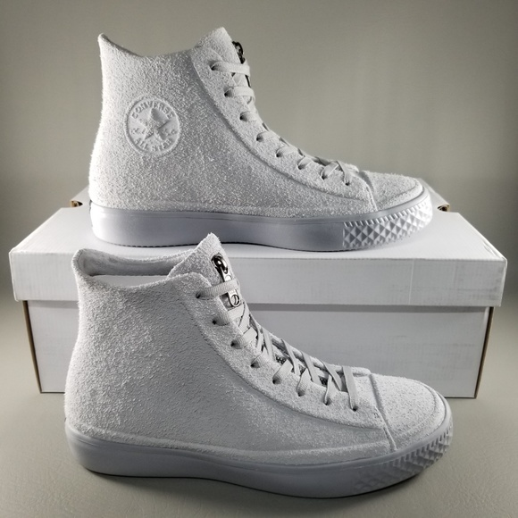 Converse CTAS Modern Hi Mens Suede Shoes Wolf Grey 1bb350ece